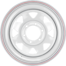 Picture of Coyote White Steel Wheel <br/> 17 x 8.0""