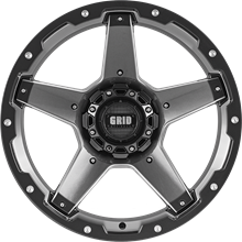 """Picture of Grid GD04 Gloss Graphite <br/> 17 x 9.0"""""""